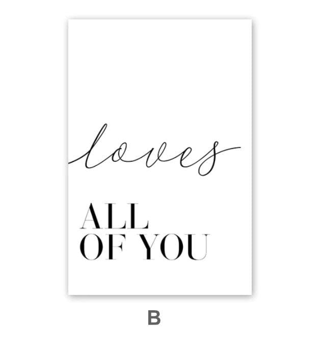 All of Me Canvas Art B / 40 x 50cm / No Board - Canvas Print Only Clock Canvas