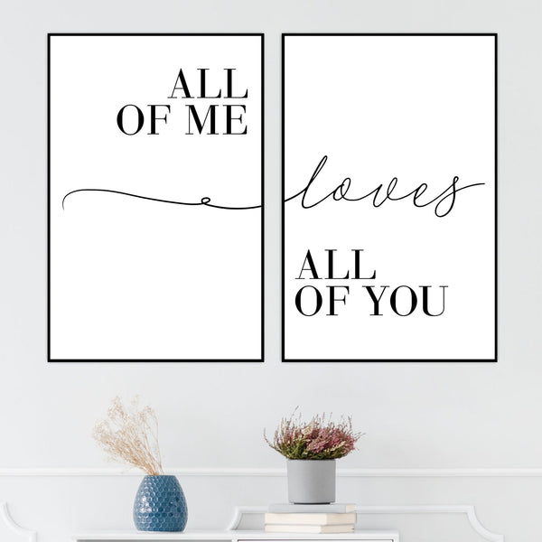 All of Me Canvas Art Clock Canvas