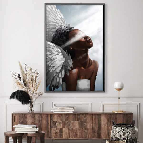 Angel Light Canvas Art Clock Canvas