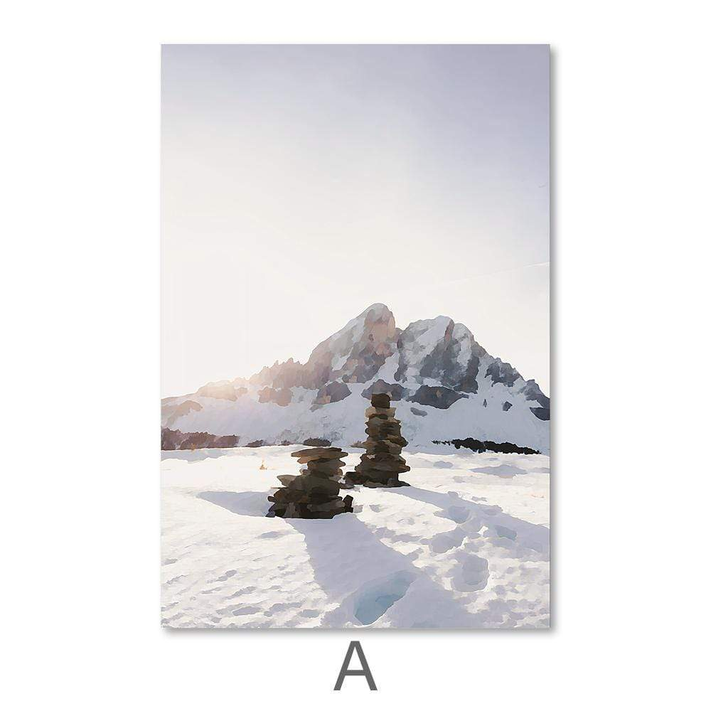 Arctic Landscape Canvas Art A / 40 x 50cm / No Board - Canvas Print Only Clock Canvas