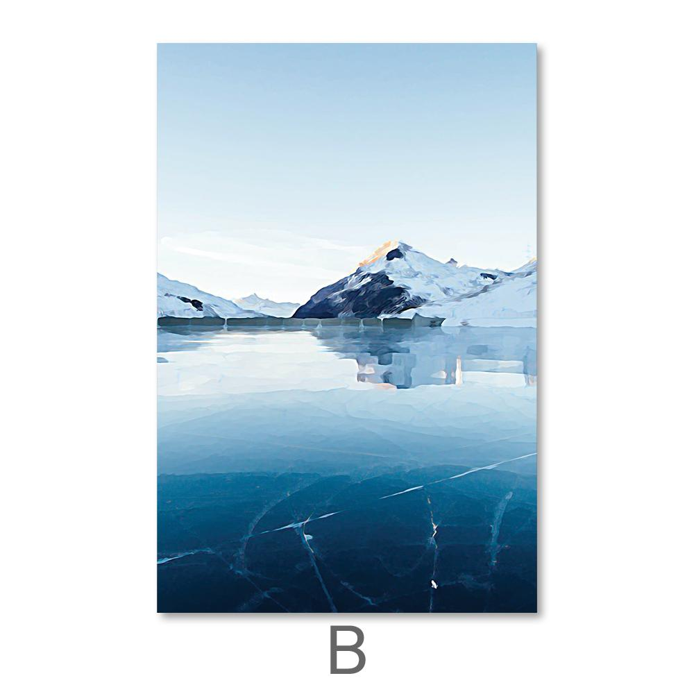 Arctic Landscape Canvas Art B / 40 x 50cm / No Board - Canvas Print Only Clock Canvas