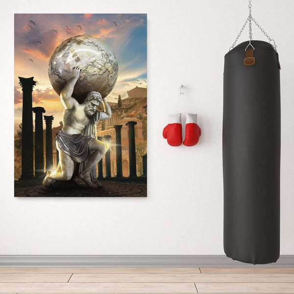 Atlas Strength Clock Canvas