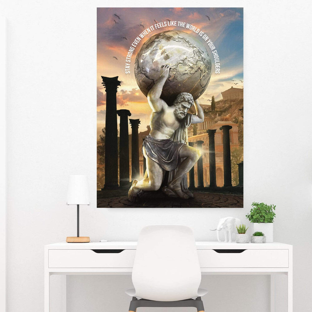 Atlas Strength - Quote Clock Canvas