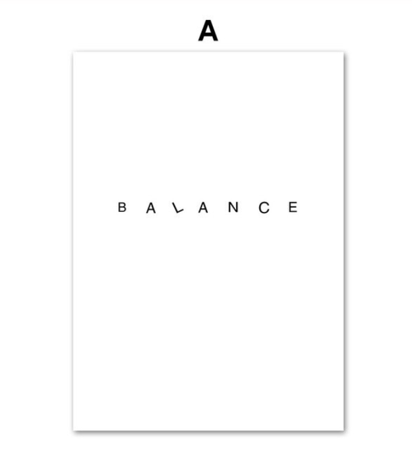 Balance Canvas Art A / 40 x 50cm / No Board - Canvas Print Only Clock Canvas