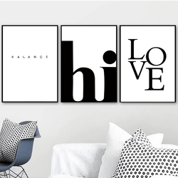 Balance Canvas Art Set of 3 / 40 x 50cm / No Board - Canvas Print Only Clock Canvas