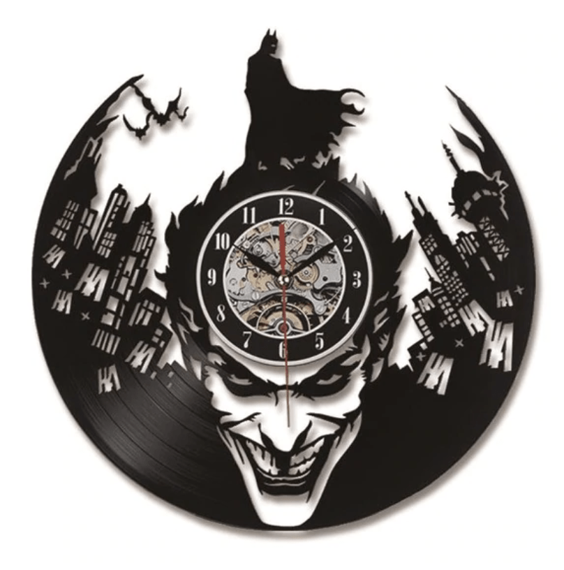 Batman Vinyl Clock Clock Canvas