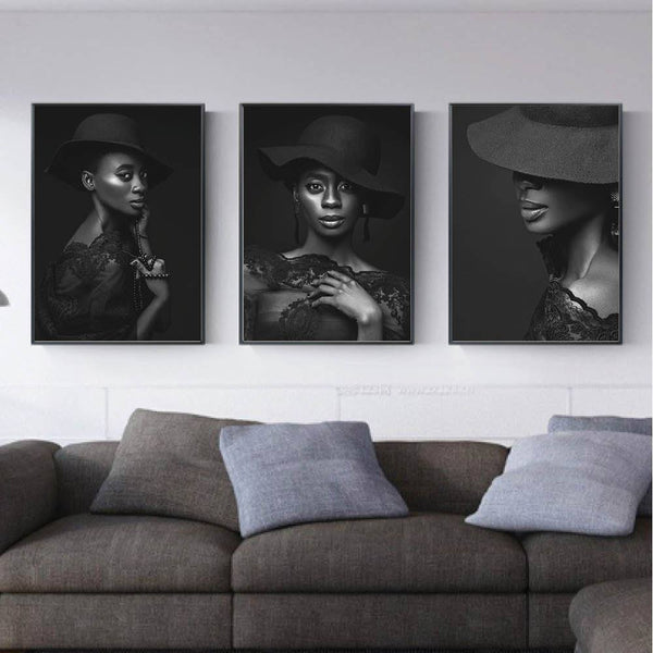 Beauty Canvas Art Set of 3 / 40 x 50cm / No Board - Canvas Print Only Clock Canvas