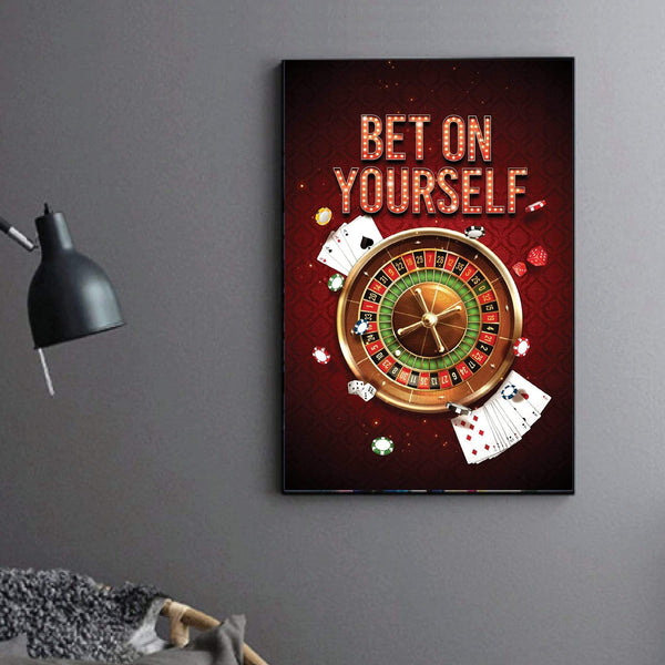 Bet On Yourself Clock Canvas