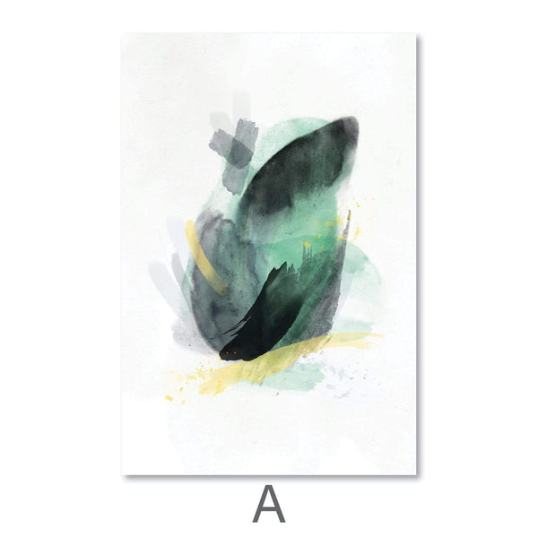 Blooming Abstract Canvas Art A / 40 x 50cm / Unframed Canvas Print Clock Canvas