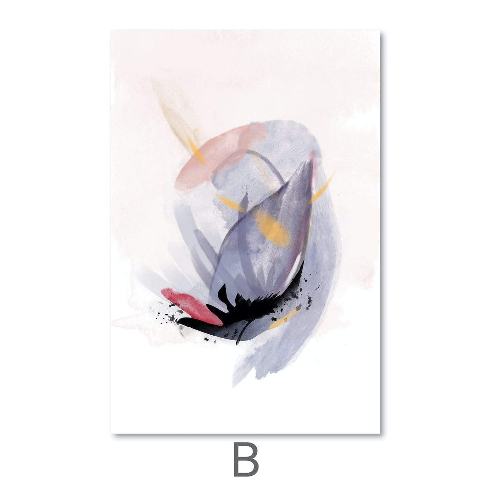 Blooming Abstract Canvas Art B / 40 x 50cm / Unframed Canvas Print Clock Canvas