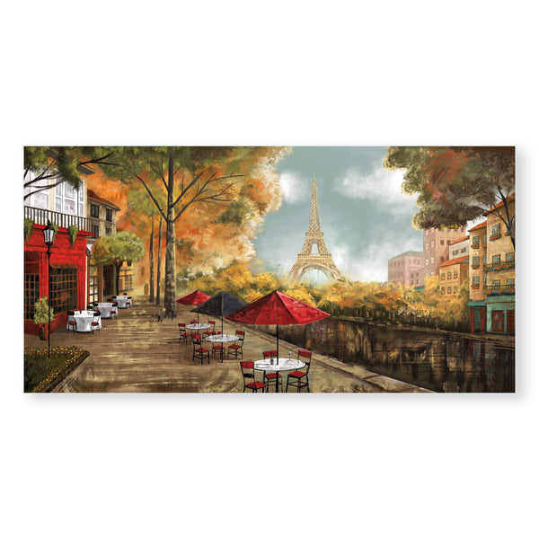 Café de la Tour Eiffel Canvas Art Clock Canvas