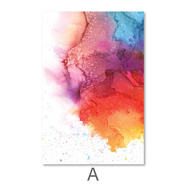 Cascading Color Canvas Art A / 40 x 50cm / No Board - Canvas Print Only Clock Canvas