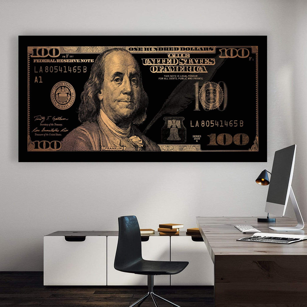 Cash Money - Gold Clock Canvas