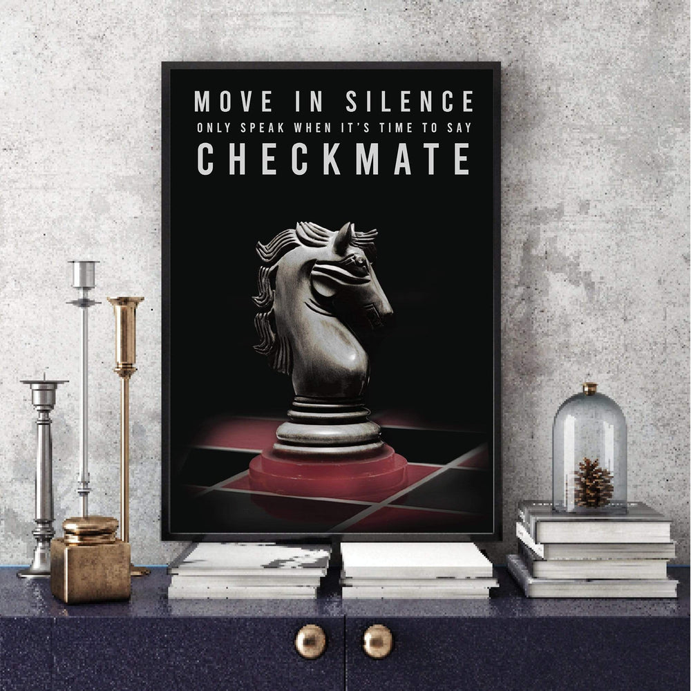 Checkmate Clock Canvas