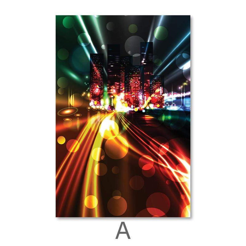 City Light Trails Canvas Art A / 40 x 50cm / No Board - Canvas Print Only Clock Canvas