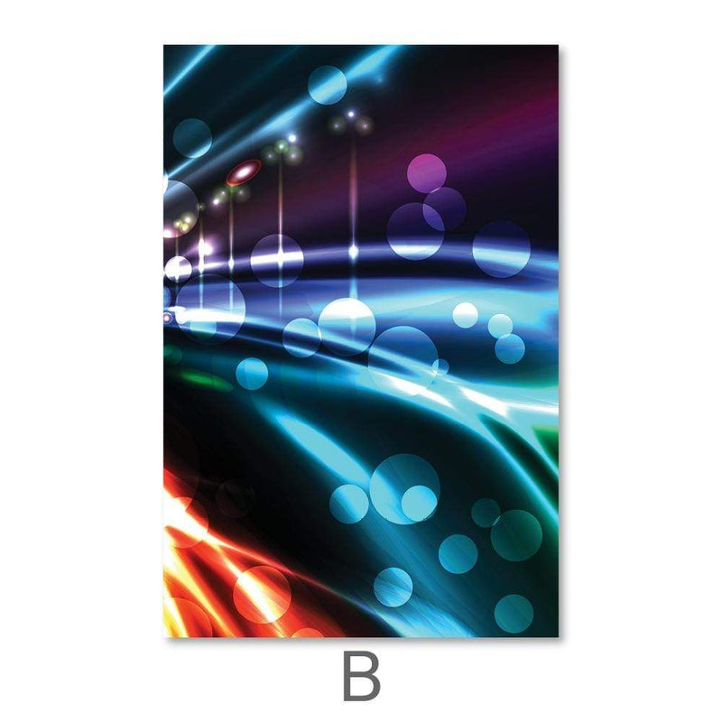 City Light Trails Canvas Art B / 40 x 50cm / No Board - Canvas Print Only Clock Canvas