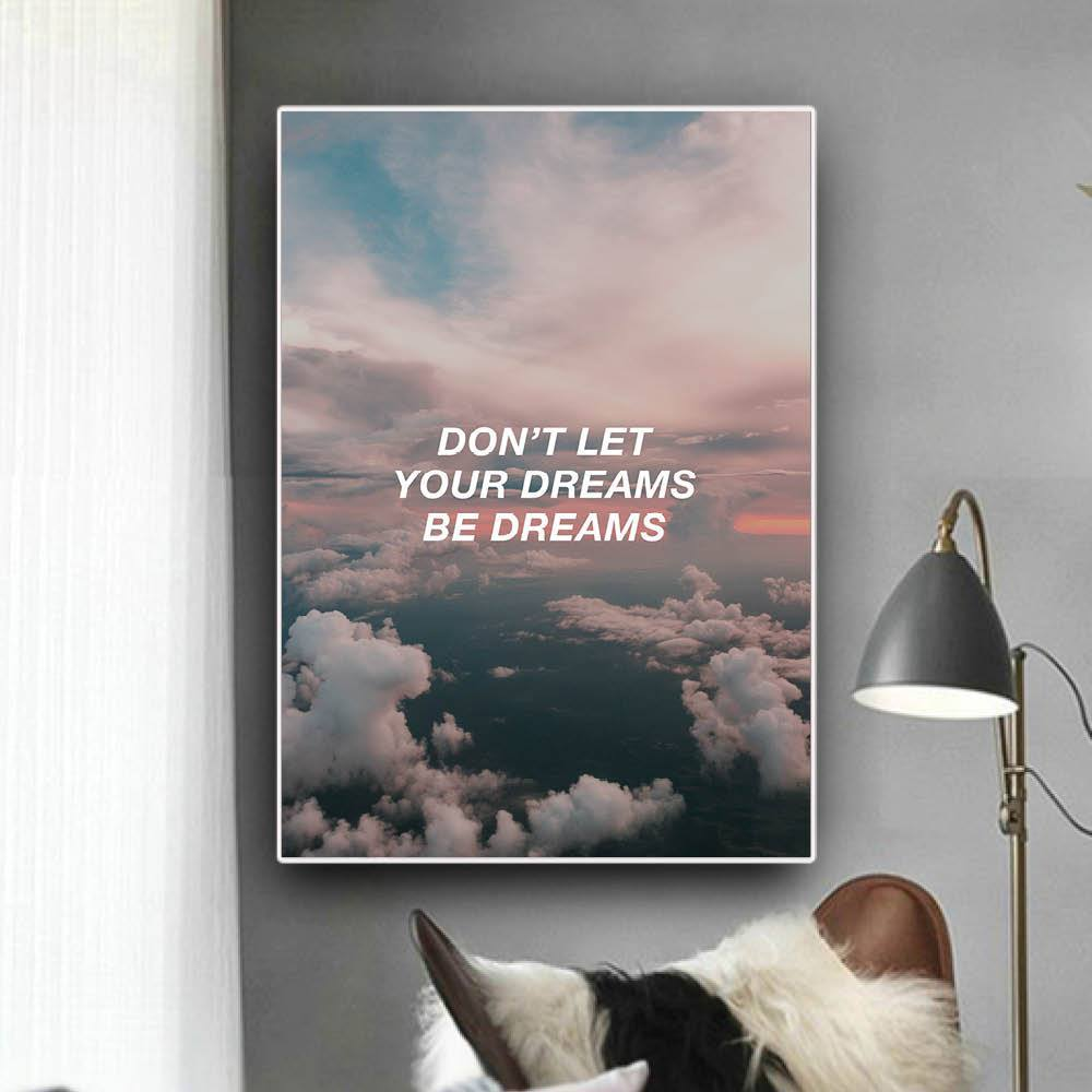 Cloud Dreams Clock Canvas