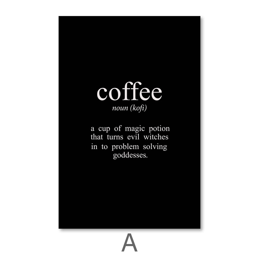 Coffee and Tea Canvas Art A / 40 x 50cm / No Board - Canvas Print Only Clock Canvas