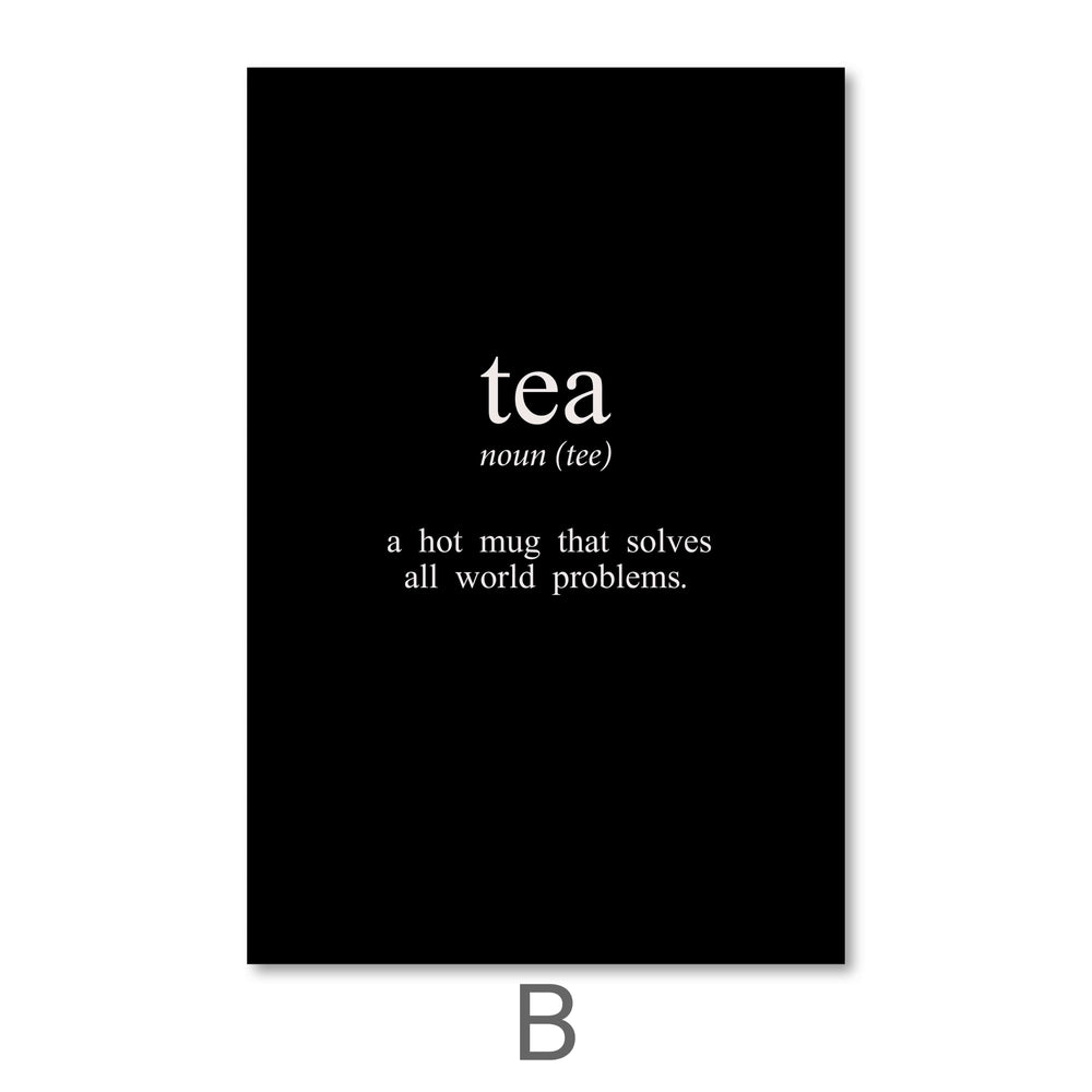 Coffee and Tea Canvas Art B / 40 x 50cm / No Board - Canvas Print Only Clock Canvas