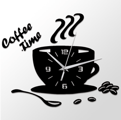 Coffee Time Vinyl Clock Clock Canvas