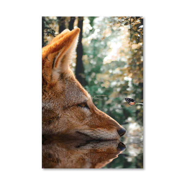 Curious Fox Canvas Art Clock Canvas