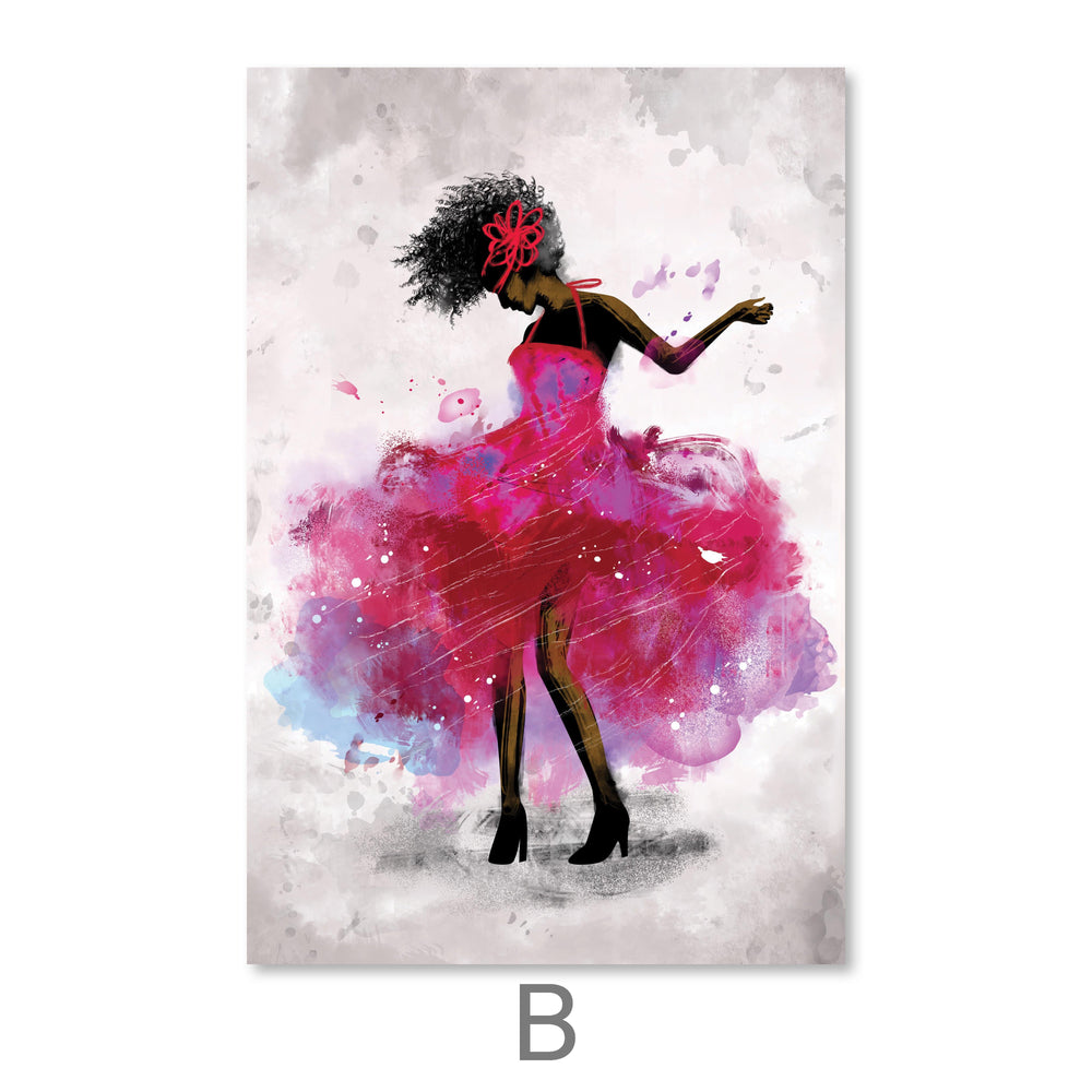 Dancing Queen Canvas Art B / 40 x 50cm / No Board - Canvas Print Only Clock Canvas
