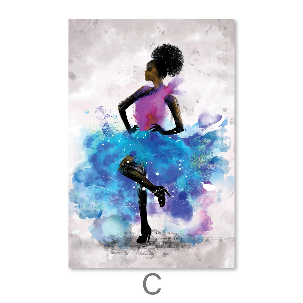 Dancing Queen Canvas Art C / 40 x 50cm / No Board - Canvas Print Only Clock Canvas