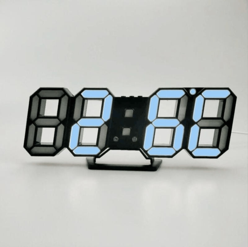 Digitizer Desk Clock Black - Blue Clock Canvas