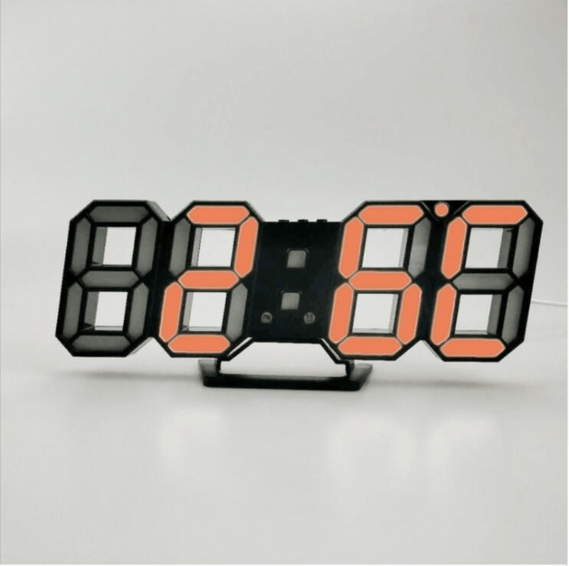 Digitizer Desk Clock Black - Orange Clock Canvas