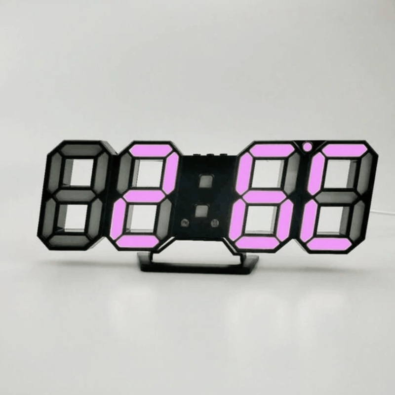 Digitizer Desk Clock Black - Purple Clock Canvas