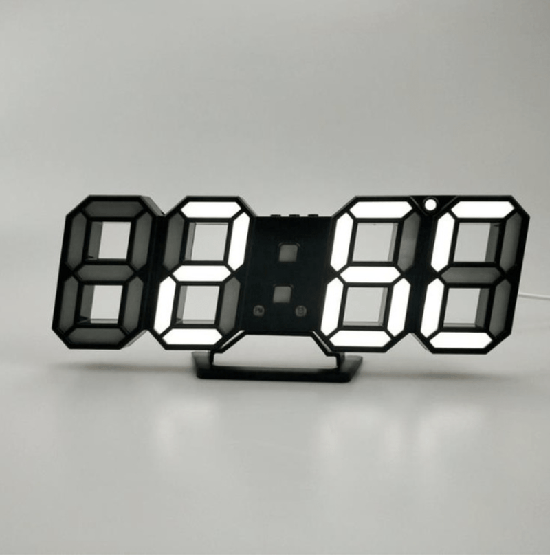 Digitizer Desk Clock Black - White Clock Canvas