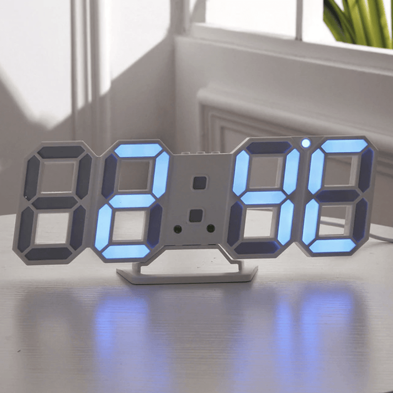 Digitizer Desk Clock White - Blue Clock Canvas