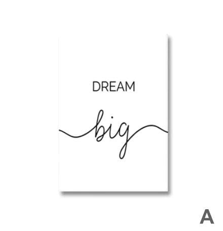 Dream Big Canvas Art A / 40 x 50cm / No Board - Canvas Print Only Clock Canvas
