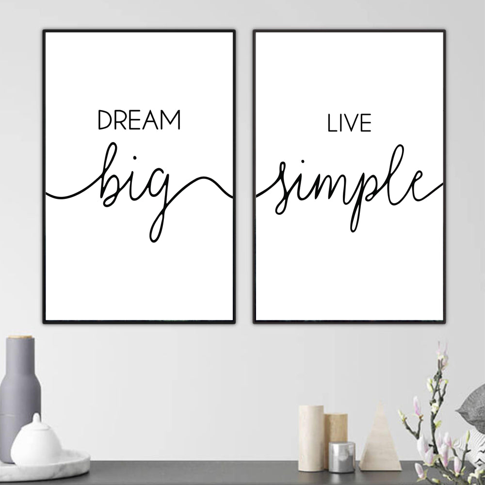 Dream Big Canvas Art Clock Canvas