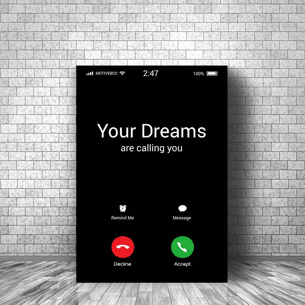 Dreams are Calling Clock Canvas
