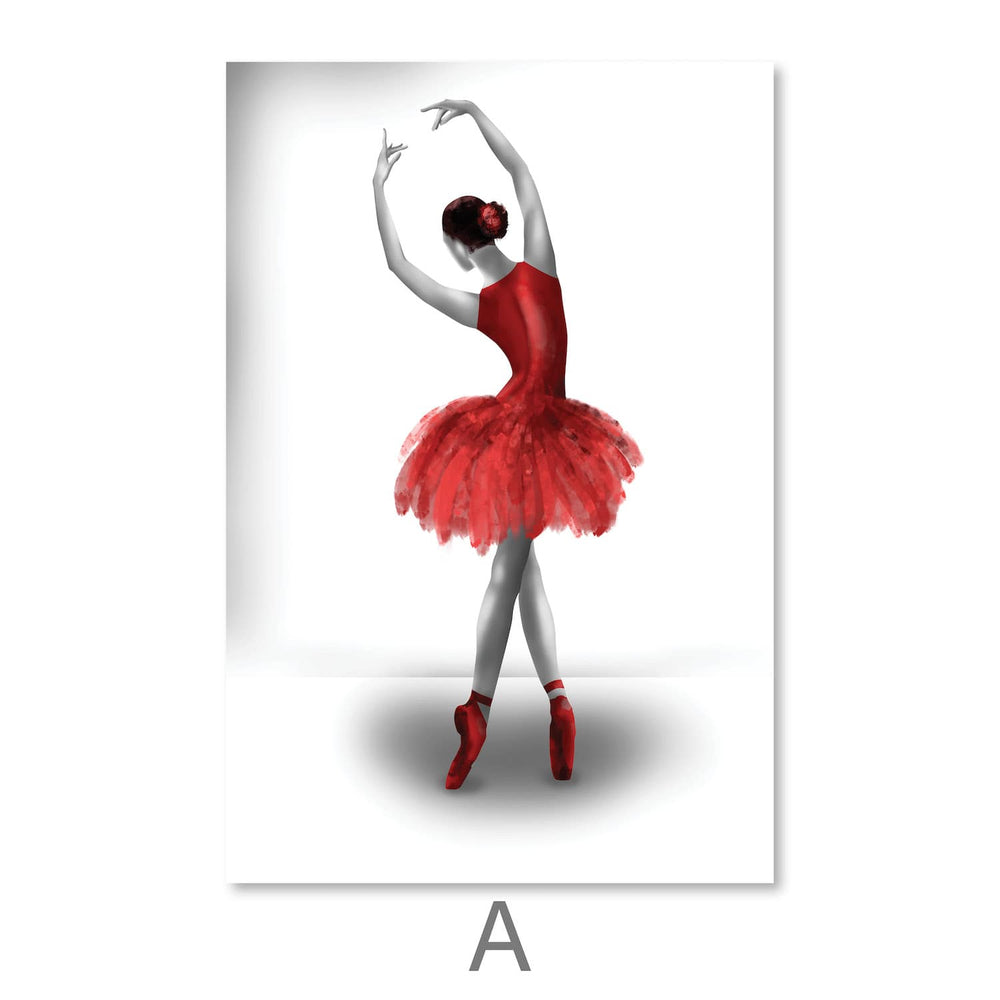 Elegant Ballet Canvas Art A / 30 x 45cm / Unframed Canvas Print Clock Canvas