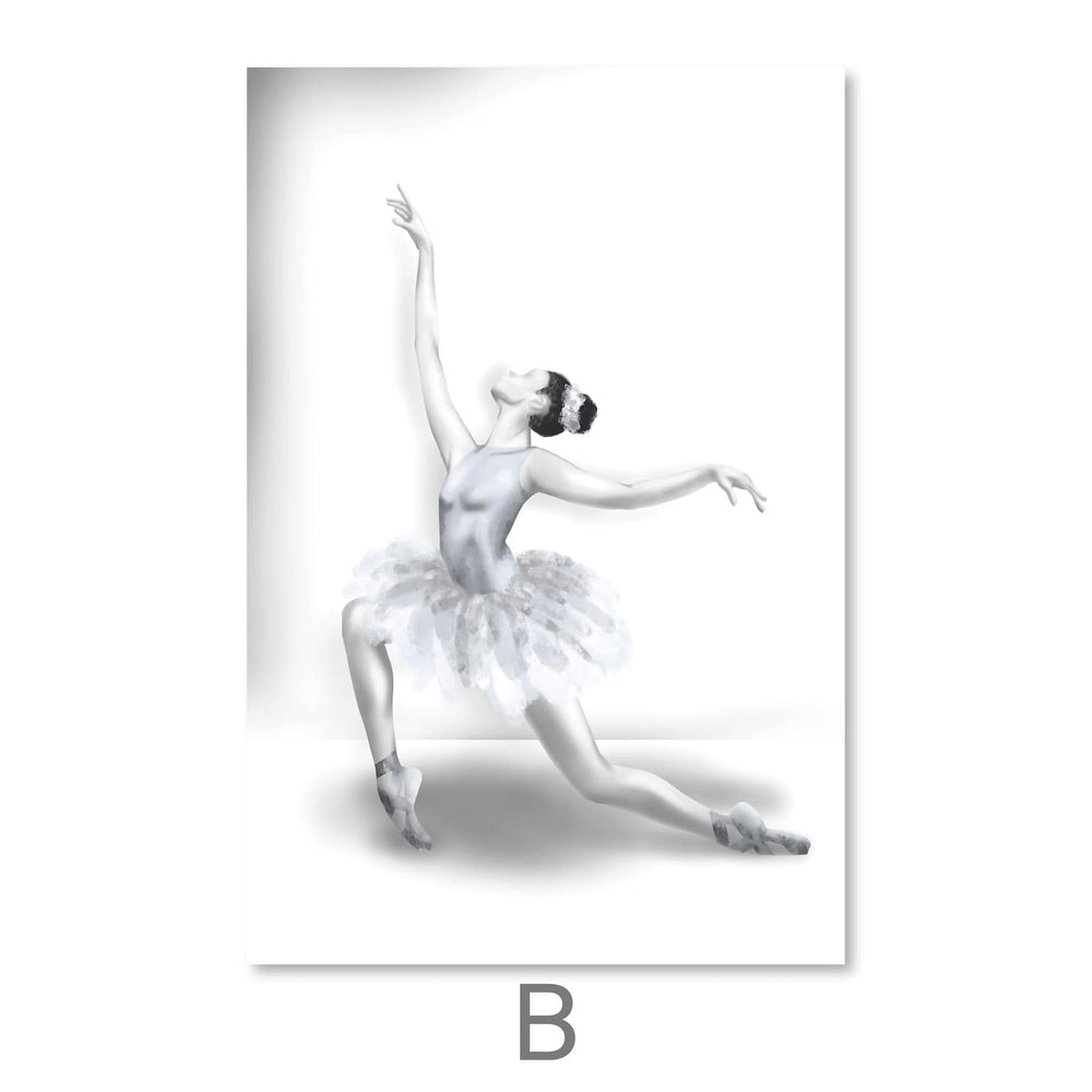 Elegant Ballet Canvas Art B / 30 x 45cm / Unframed Canvas Print Clock Canvas