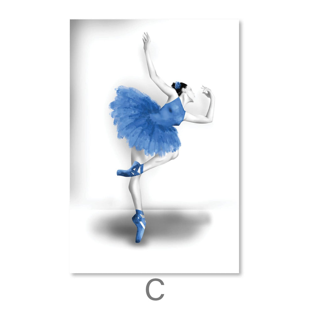 Elegant Ballet Canvas Art C / 30 x 45cm / Unframed Canvas Print Clock Canvas