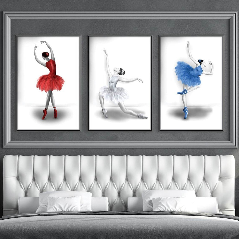 Elegant Ballet Canvas Art Clock Canvas