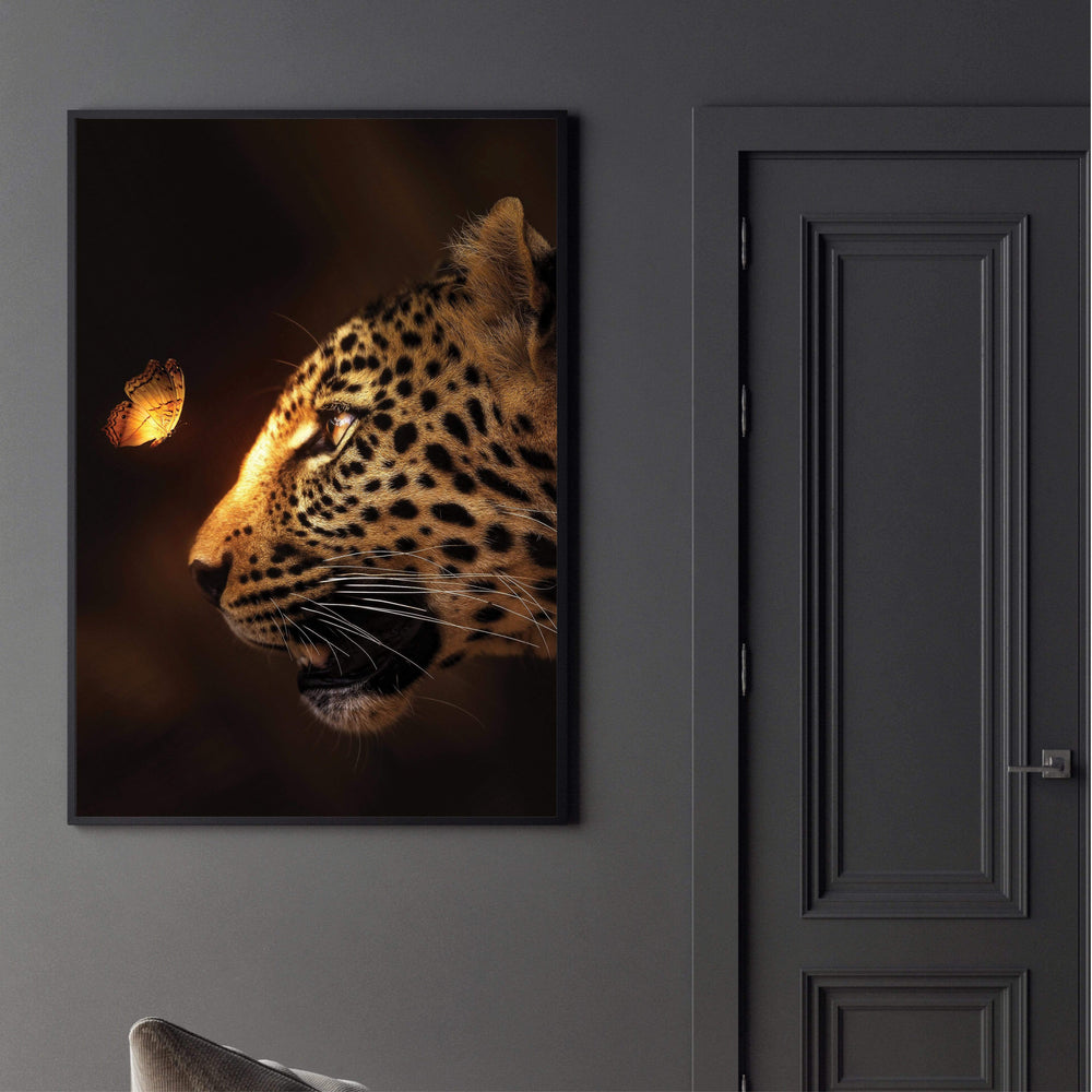 Enchanted Jaguar Canvas Art Clock Canvas