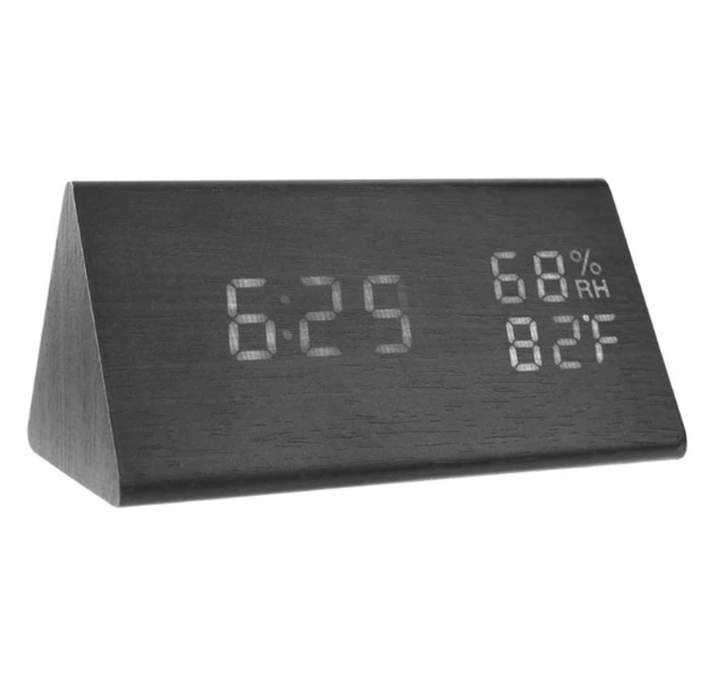 Etched Black Clock Canvas