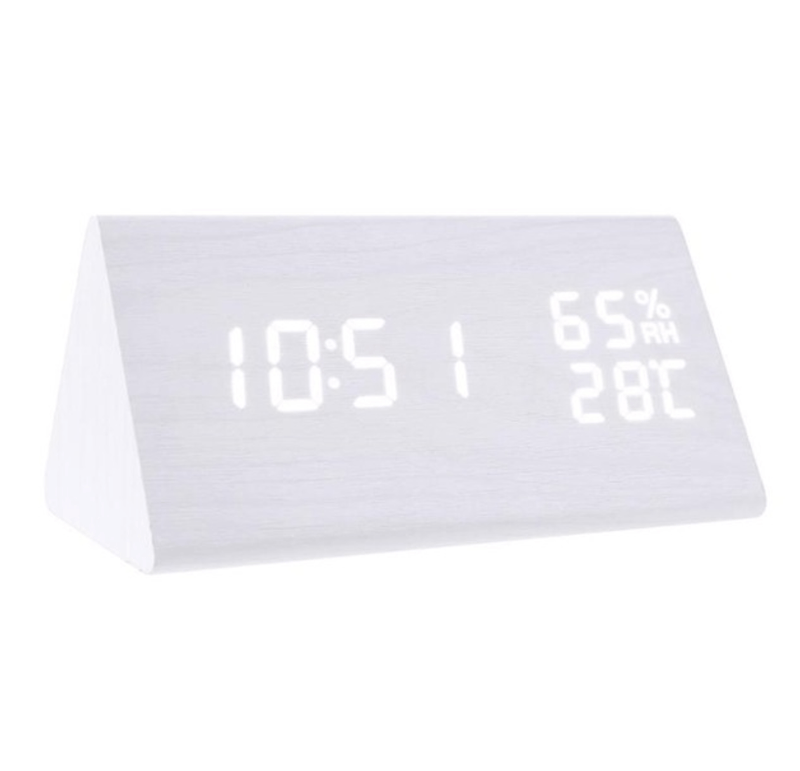 Etched White Clock Canvas