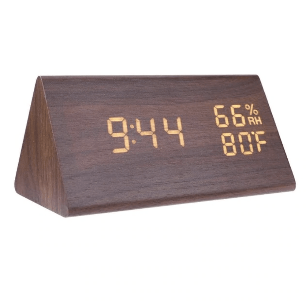 Etched Wood Clock Canvas