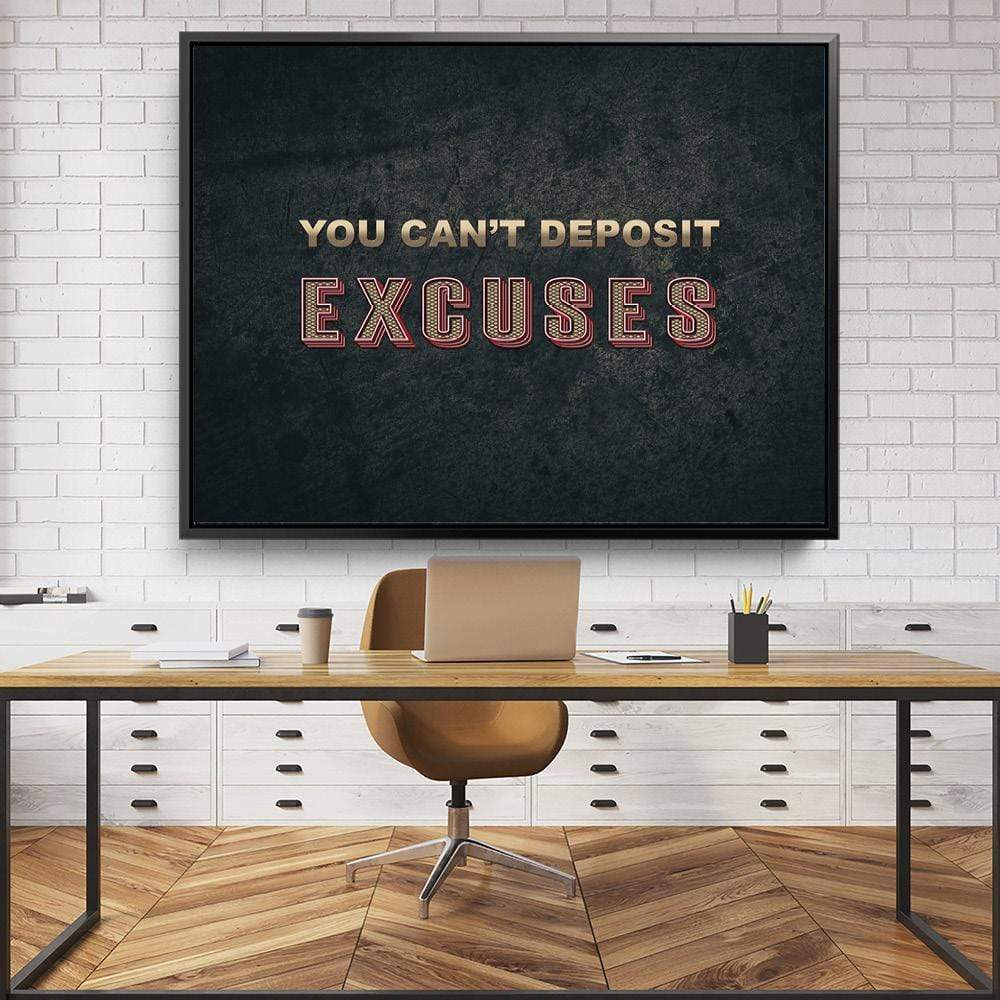 Excuses Clock Canvas