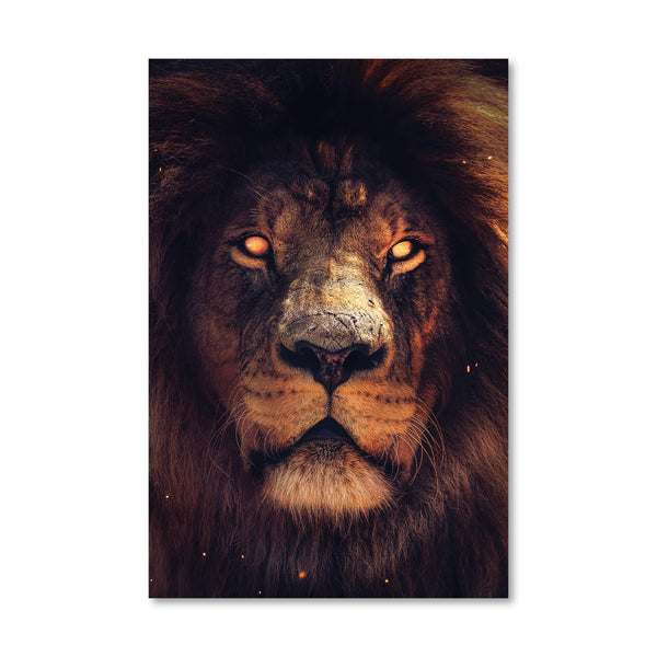 Exotic Lion Canvas Art Clock Canvas
