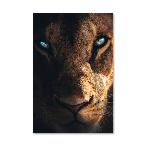 Fierce Lioness Canvas Art Clock Canvas