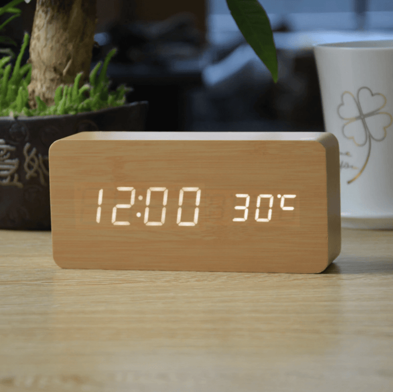 Forester Bamboo Clock Canvas