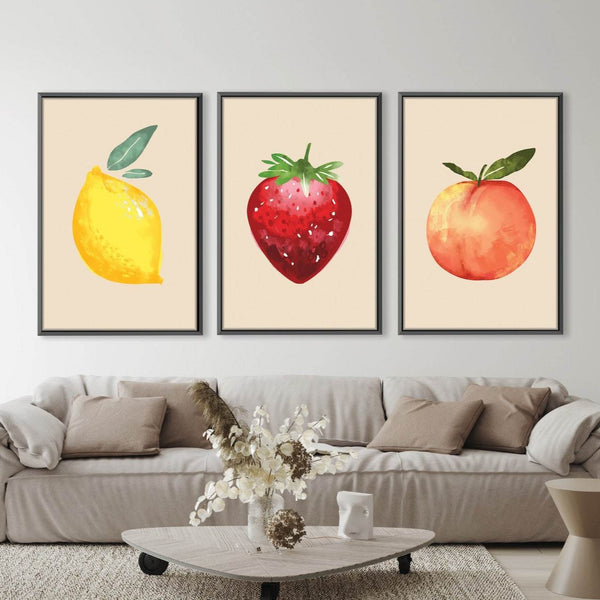 Fruit Vibes Canvas Art Clock Canvas