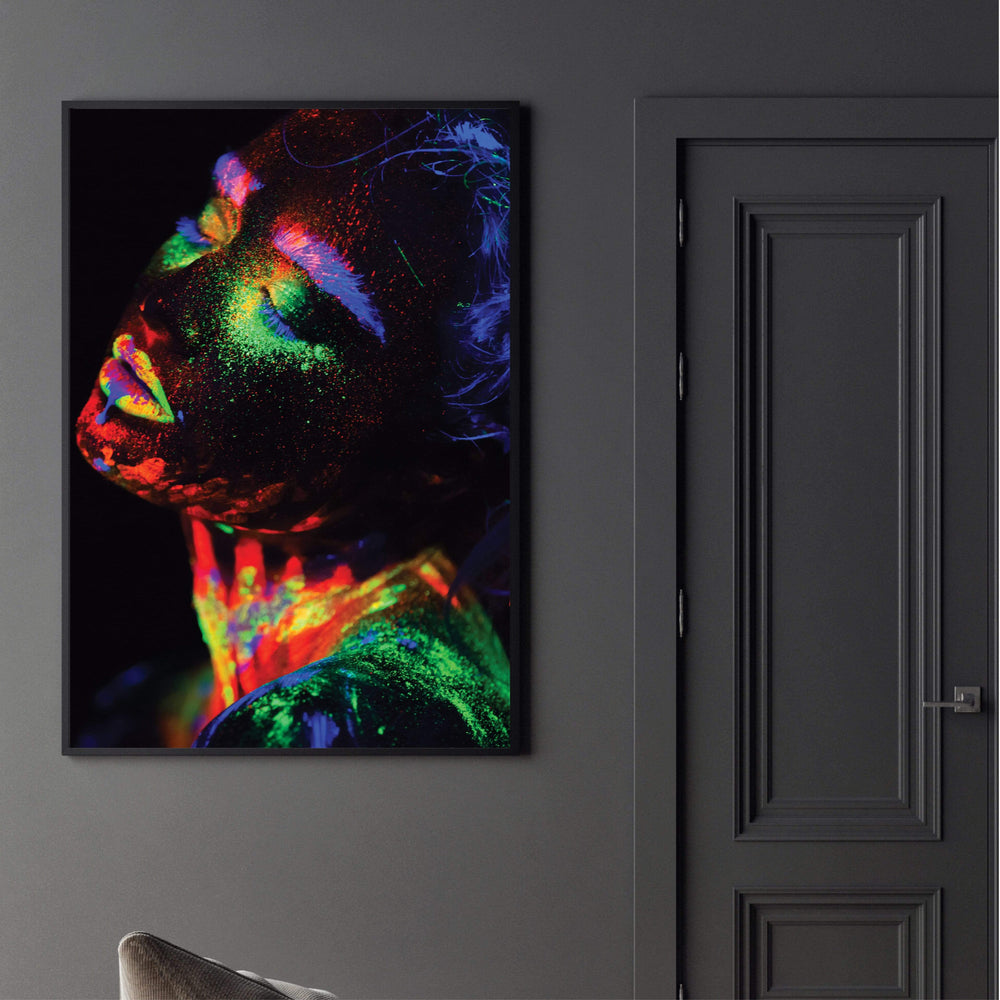 Glowing Woman Canvas Art Clock Canvas