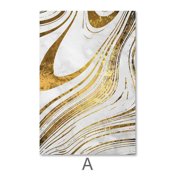 Golden Ripple Canvas Art A / 40 x 50cm / No Board - Canvas Print Only Clock Canvas